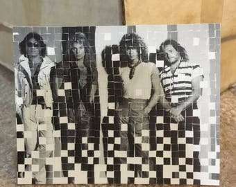 Van Halen Black and White Squared