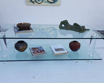 Vintage Two Tier Rectangular Coffee Table .