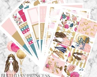 SALE - Birthday Princess // Erin Condren Vertical Weekly Planner Kit - MATTE