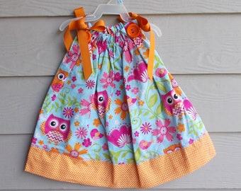 Handmade Floral Pillowcase Dress  12 -18 mth - infant sundress, girls sundress, sleeveless dress, girls clothing, beach pillowcase dress