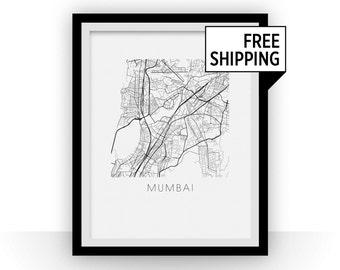 Mumbai Map Print