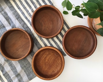 Set of 4 Wooden Bowls