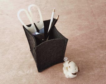 felt pen holder, felt desk accessories, desk organizer, home office decor, desktop accessories, office storage, office organizer