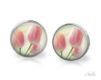 Ear studs of pastellener cherry blossom 1