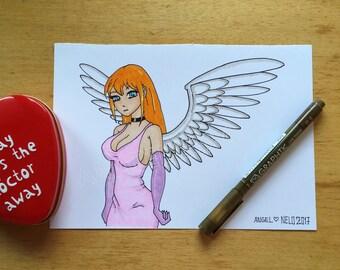 Sexy angel art print