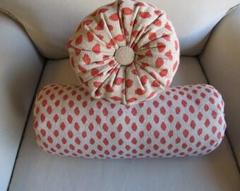 SAHARA Geranium of Bolster pillows 6x14 6x16 6x18 6x20 6x22