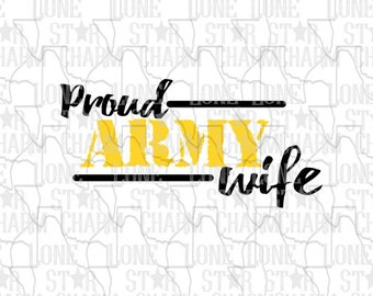 Proud Army Wife SVG