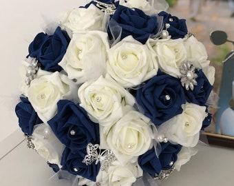 Sapphire Bridal Bouquet XL