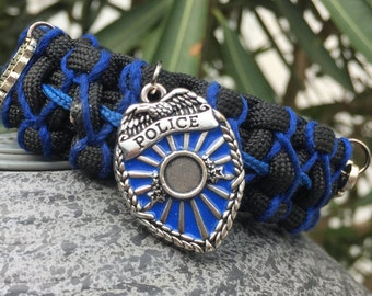 Policemans Paracord Bracelet, stainless steel buckle