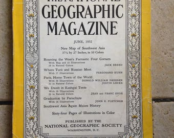 June, 1952 National Geographic Magazine