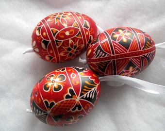 easter egg 3 real chicken eggs adorned with traditional