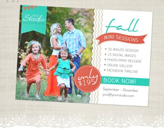 Fall Mini Session Template for Photographers - MS01