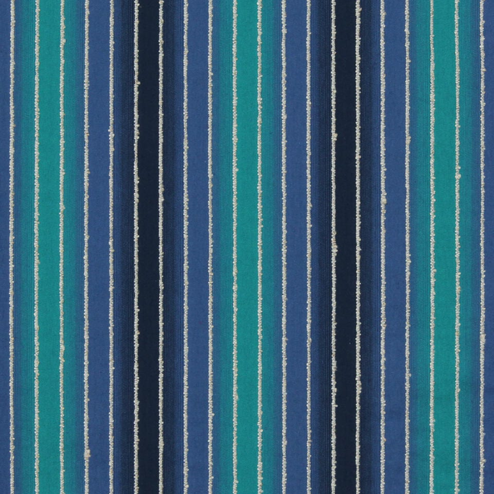 Teal Navy Ombre Upholstery Fabric Modern Turquoise Stripe # Muebles Texturados