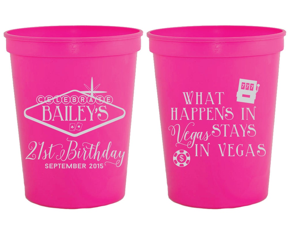 What Happens in Vegas Birthday Party Favors Vegas