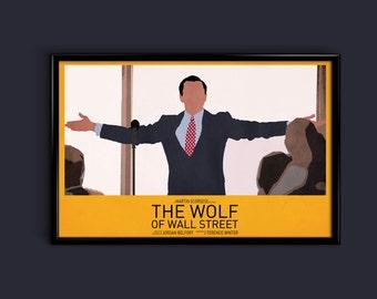 The Wolf Of Wall Street 11 x 17 Minimalist Movie Poster