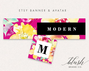 Modern Etsy Banner and Avatar | Shop Graphics, Store Graphics, Etsy Banner, Etsy Avatar
