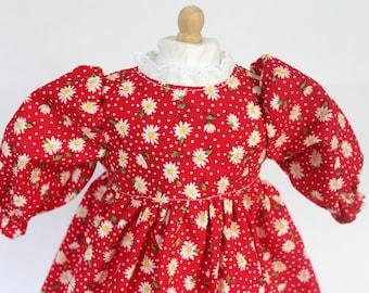 "Doll Dress for 18"" doll, daisy print"