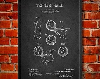 1914 Tennis Ball Patent, Canvas Print,  Wall Art, Home Decor, Gift Idea