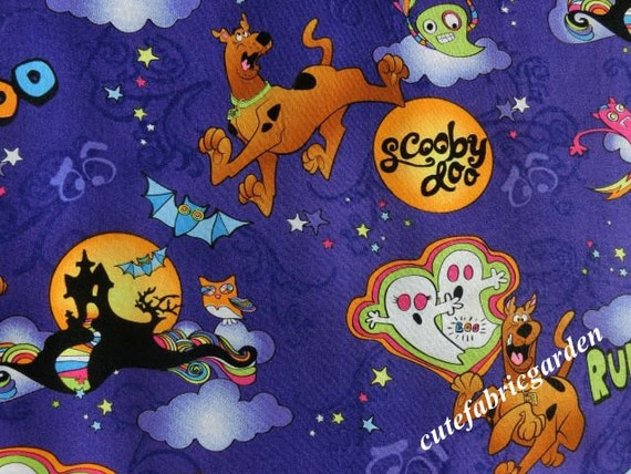 cotton fabric 3meters animal fabric scooby doo halloween