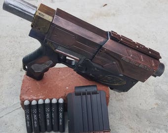 Custom painted borderlands mad moxxi nerf gun / cosplay prop