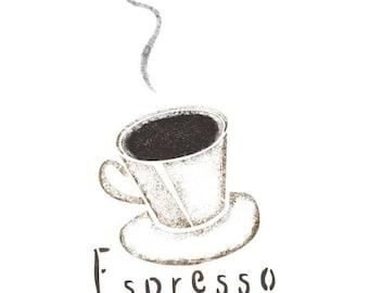 Espresso Cup Stencil