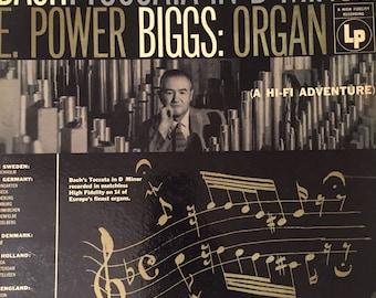 Bach-Toccata in D Minor/E. Power Biggs:Organ-1955-Vinyl Record Album LP