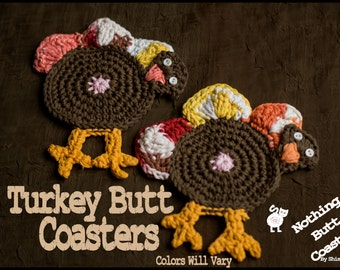 "Turkey Butt Coasters - By ""Nothing Butt Coasters"""