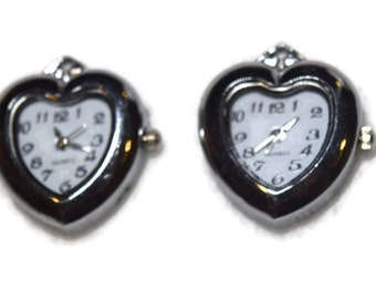 Love Heart Watch PENDANT for Beading Jewelry Finding Supply