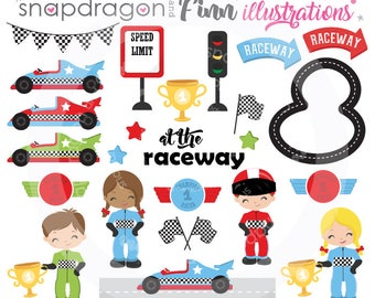Racing Clipart, Race Car Clipart, Race Car Driver Clipart, racecar clipart, digital images, vector images, Commercial License Included