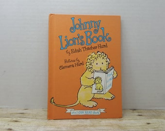 Little Johnny Lions Book, 1965, Edith Thacher Hurd, Clement Hurd, vintage kids book