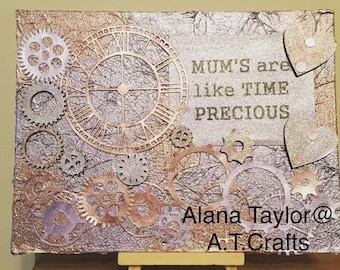 Mother's are like time canvas