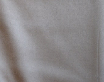"Harmony Art 100% organic cotton sateen cream fabric 110"" wide bedding fair trade baby"