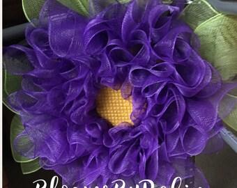 Blooming  Purple Fun Flower