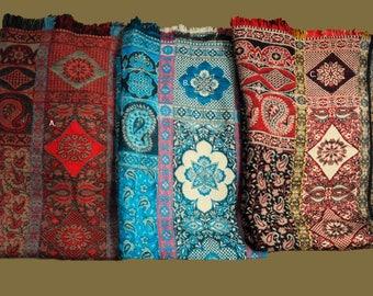 Quality Wool Renaissance Pattern Shawls/Wraps