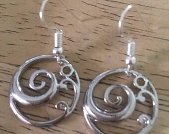 Ocean Wave Earrings,Coastal Earrings,Beach Inspired Jewelry