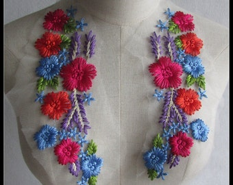 Flower Appliques-Colorful Appliques- Cuff Decorations ,Shoulders Knots,Costumes Appliques Accessories