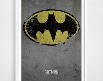Superhero Poster, Superheroes, Superhero Wall Art, Distressed Art Print, Kids Print, Superhero Art Print, Bedroom Decor, Kids Wall Art.
