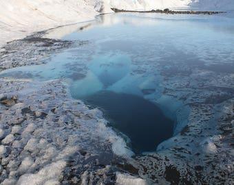Nature Photography Print. Alaska Photo. Glacier. Winter. Ice.