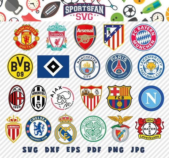 Europe football soccer logos svg pack football club soccer