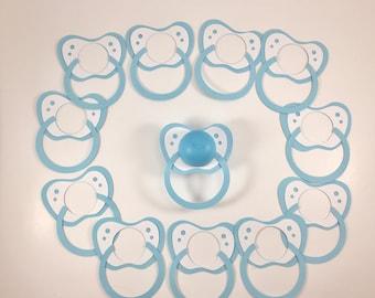 EOS baby shower lip balm holder set of 12,EOS baby shower favor,EOS party favor,Favor with lip balm,Baby pacifier,Baby boy shower,