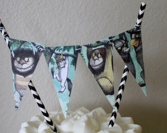 Wild Thing Cake Topper Pennant