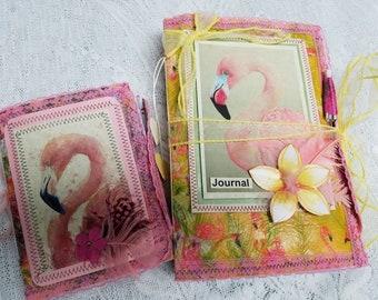 Mini Festive Flamingo Softcover Journal