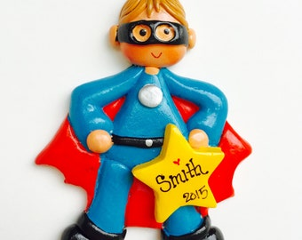 Personalized Super Hero (boy) Ornament / hero ornament / superhero / hero boy