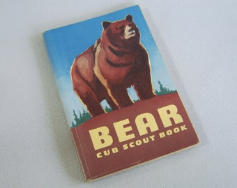 Vintage Bear Cub Scout Book 1954 Boy Scouting Handbook
