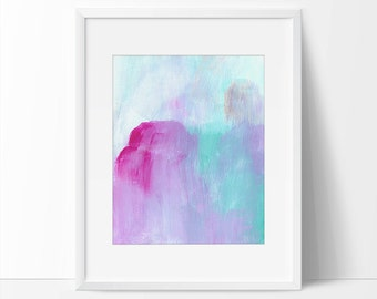 Abstract Art, Pink and Blue Abstract Art Print, 8 x 10 Abstract Print, 5 x 7 Abstract Print, Abstract Painting, Abstract Watercolor, Art.