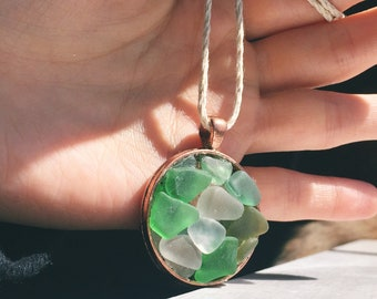 Sea Glass Pendant, Sea Glass Jewelry, Sea Glass Necklace, Nautical Jewelry, Summer Necklace Jewelry, Beach Glass Jewelry, Ocean Jewelry