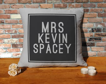 Kevin Spacey Pillow Cushion - 16x16in - Grey