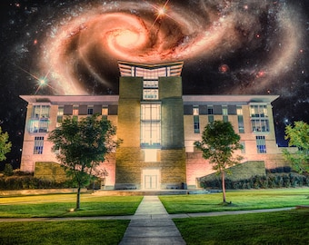 Students at the Center of the Galaxy - Limited Edition Canvas Print - Hot Springs, Arkansas ASMSA Faris Student Center