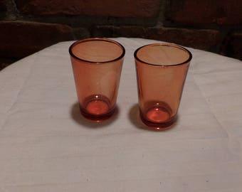 Vintage Orange Shot Glass Set, Barware, Home barware, Shot glass set, glass shot glasses, Morethebuckles
