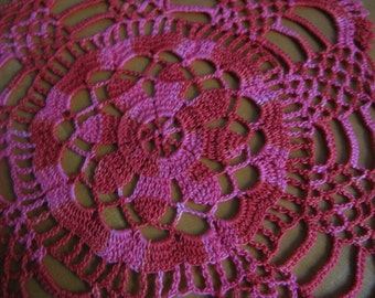 Sale 50% 20.00USD- 10.00USD Hand crocheted cotton doily, 8,8 inces  in diameter.